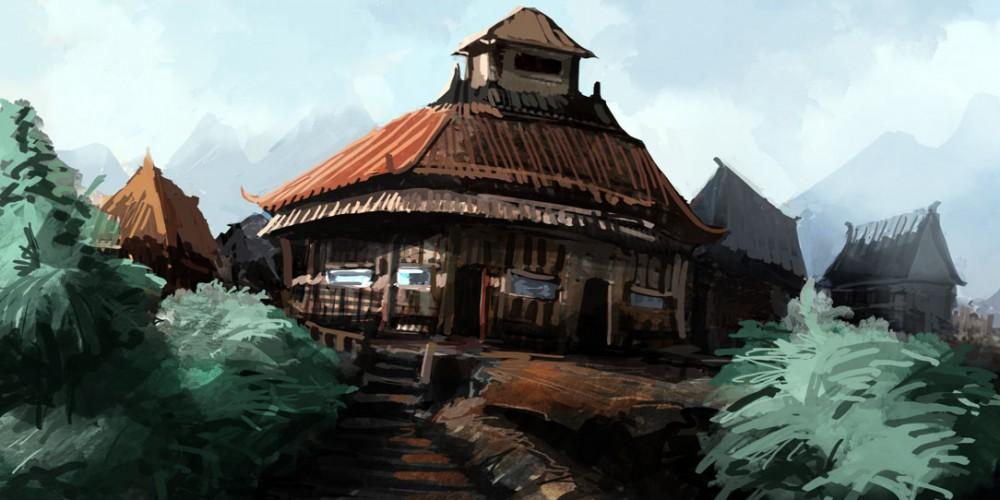 speed painting village