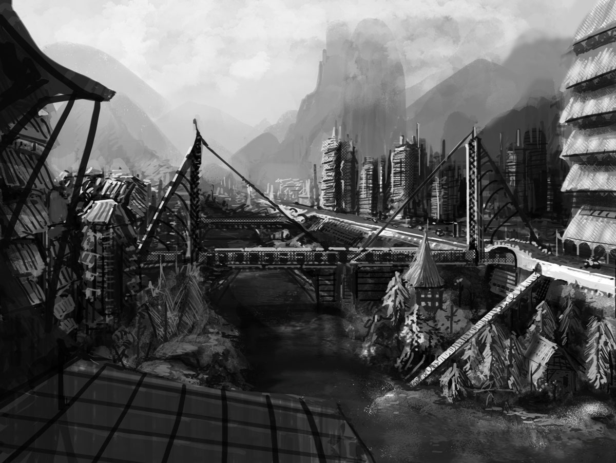Speed painting landscape